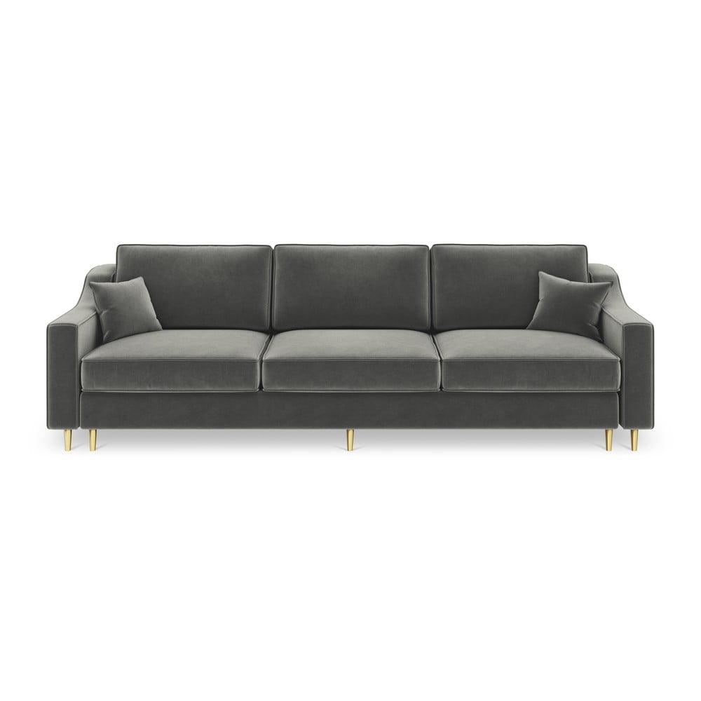 Ciemnoszara 3-osobowa sofa rozkładana Mazzini Sofas Marigold