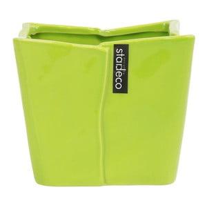 Ceramiczny wazon/doniczka Sirlon 15 cm, zielony