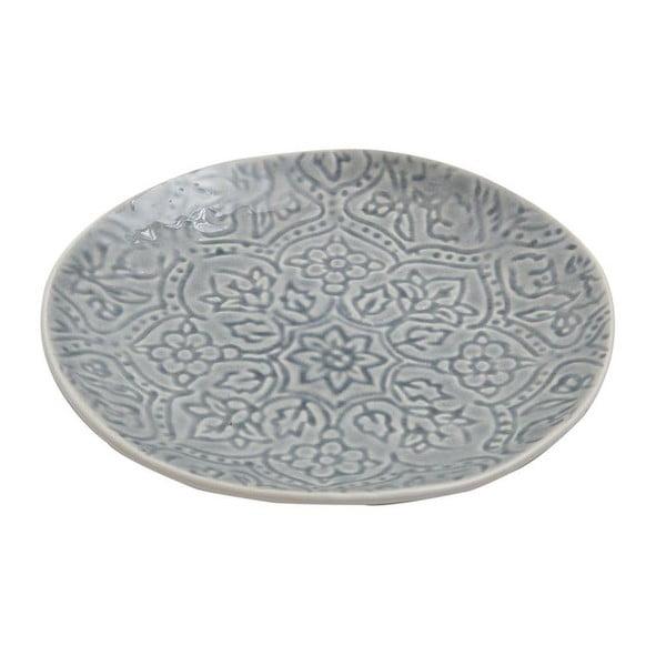 Ceramiczny talerz Botanic Dusty Blue, 22 cm