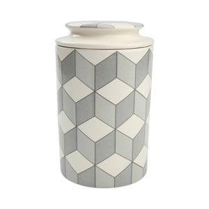 Szary pojemnik ceramiczny T&G   Woodware City Nora, 11,5x19 cm