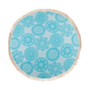 Turkusowy ręcznik hammam Begonville Lace, ᴓ 150 cm
