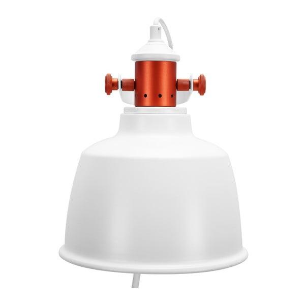 Biała lampa stojąca Garageeight Etel