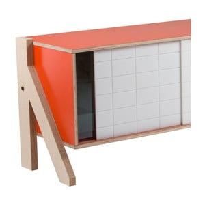 Pomarańczowa komoda rform Frame, dł. 115 cm