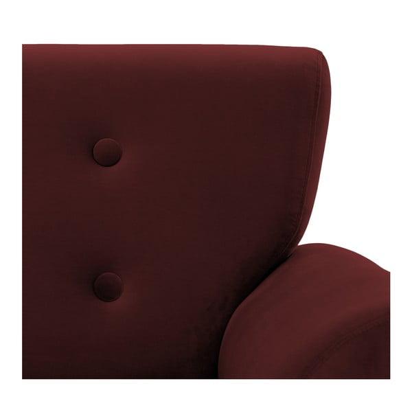 Ciemnoczerwony fotel Vivonita Kiara