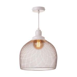 Biała lampa wisząca Unimasa