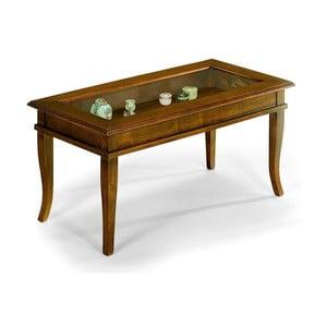Stolik drewniany z gablotą Castagnetti Noce, 45x100 cm