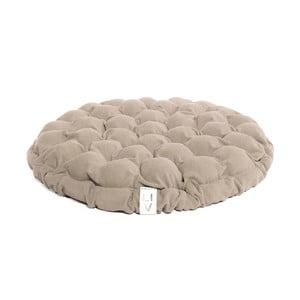 Beżowa poduszka do siedzenia wypełniona piłeczkami do masażu Lindy Vrňáková Bloom, Ø 65 cm