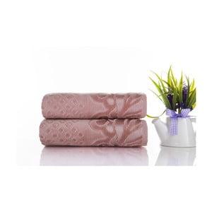 Zestaw 2 ręczników Kumsal Rose, 50x90 cm
