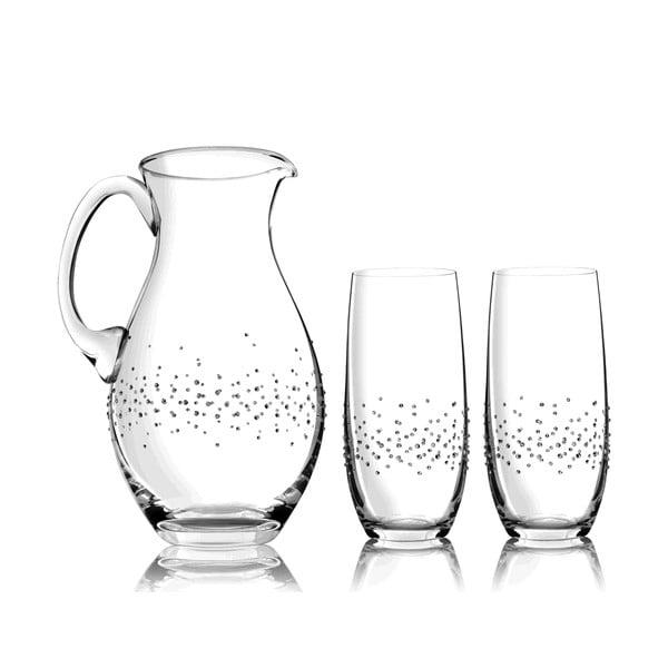 Komplet karafki i 2 szklanek Siena ze Swarovski Elements w eleganckim opakowaniu
