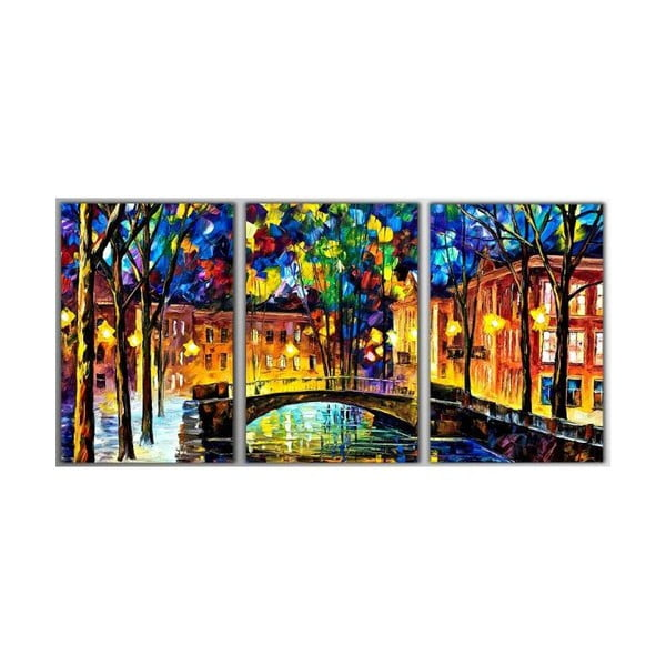 Trzyczęściowy obraz Art Amsterdam, 45x90 cm