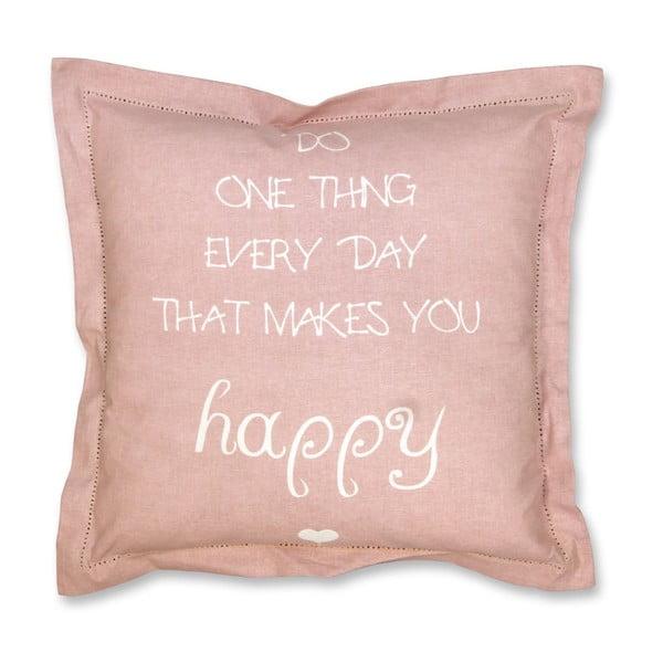 Poduszka Happy 45x45 cm, pudrowy róż