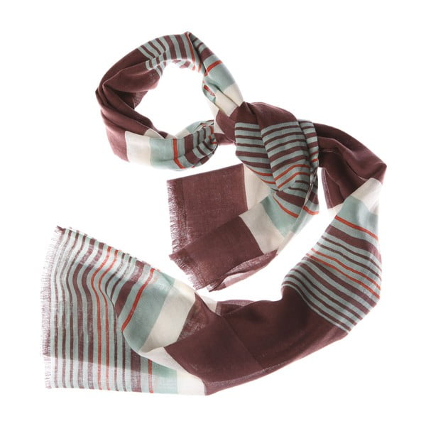 Szalik Bold Stripe Green, 180x70 cm