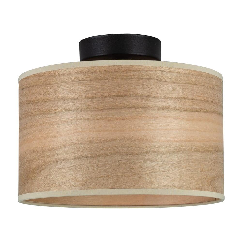 Lampa sufitowa z kloszem z drewna wiśniowego Sotto Luce TSURI S