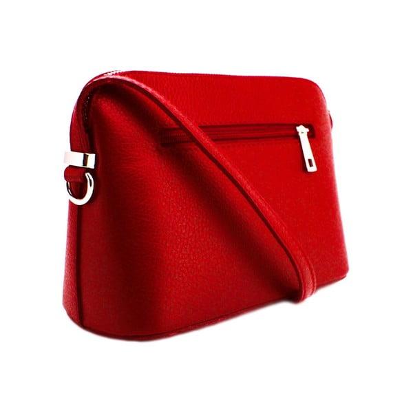 Skórzana torebka Cristella Rosso