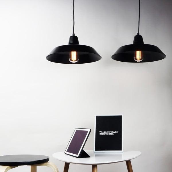 Lampa wisząca z 2 czarnymi kablami i kloszami Bulb Attack Cinco