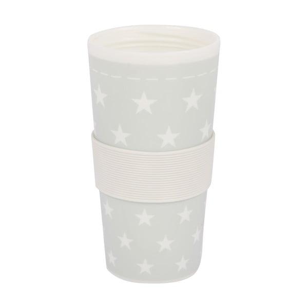 Plastikowy kubek podróżny Stars Grey