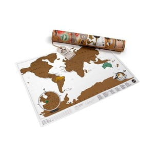 Mapa/zdrapka świata Luckies of London Mini