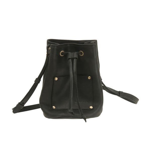 Skórzany plecak Knapsack, czarny