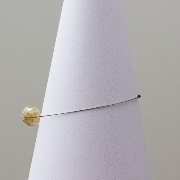 Szklany naszyjnik ko-ra-le Wired, złoty