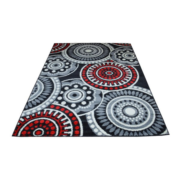 Dywan Flair Rugs Cercles Grey, 133x190 cm