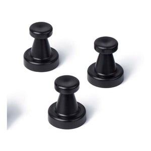 Zestaw 3 czarnych magnetycznych haczyków Reenbergs Multiple