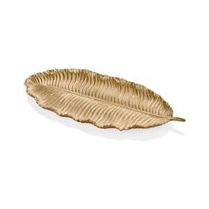 Listek dekoracyjny w złotym kolorze The Mia Leaf, 39x17 cm