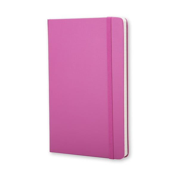 Różowy notatnik w kratkę Moleskine Magenta Hard, mały