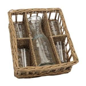 Koszyk z karafką i 4 szklankami