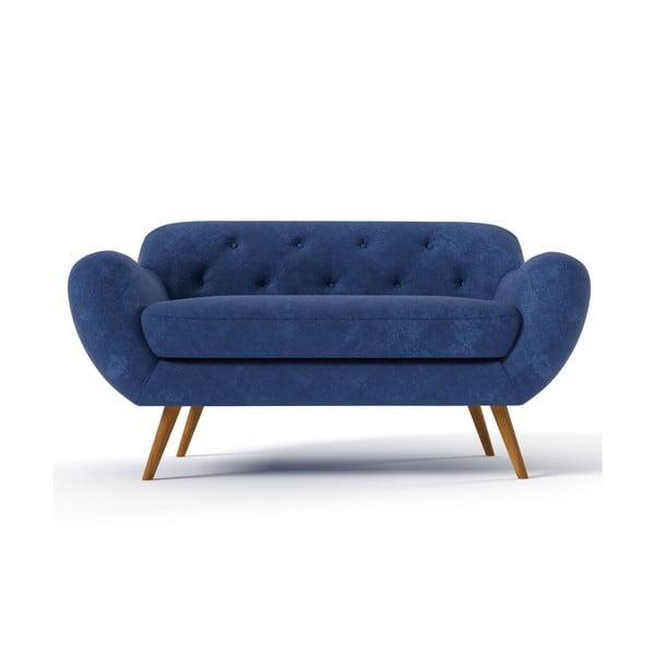 Granatowa   sofa dwuosobowa Wintech Zefir