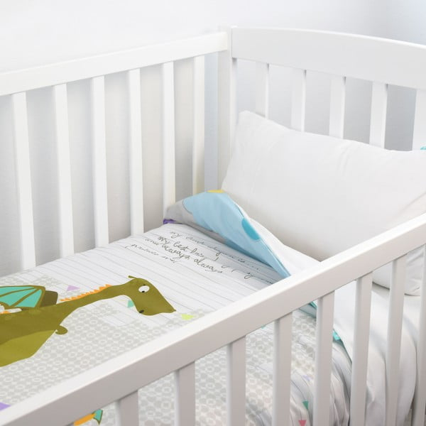 Dziecięca narzuta z poszewką na poduszkę Baleno Dragon, 100x130 cm
