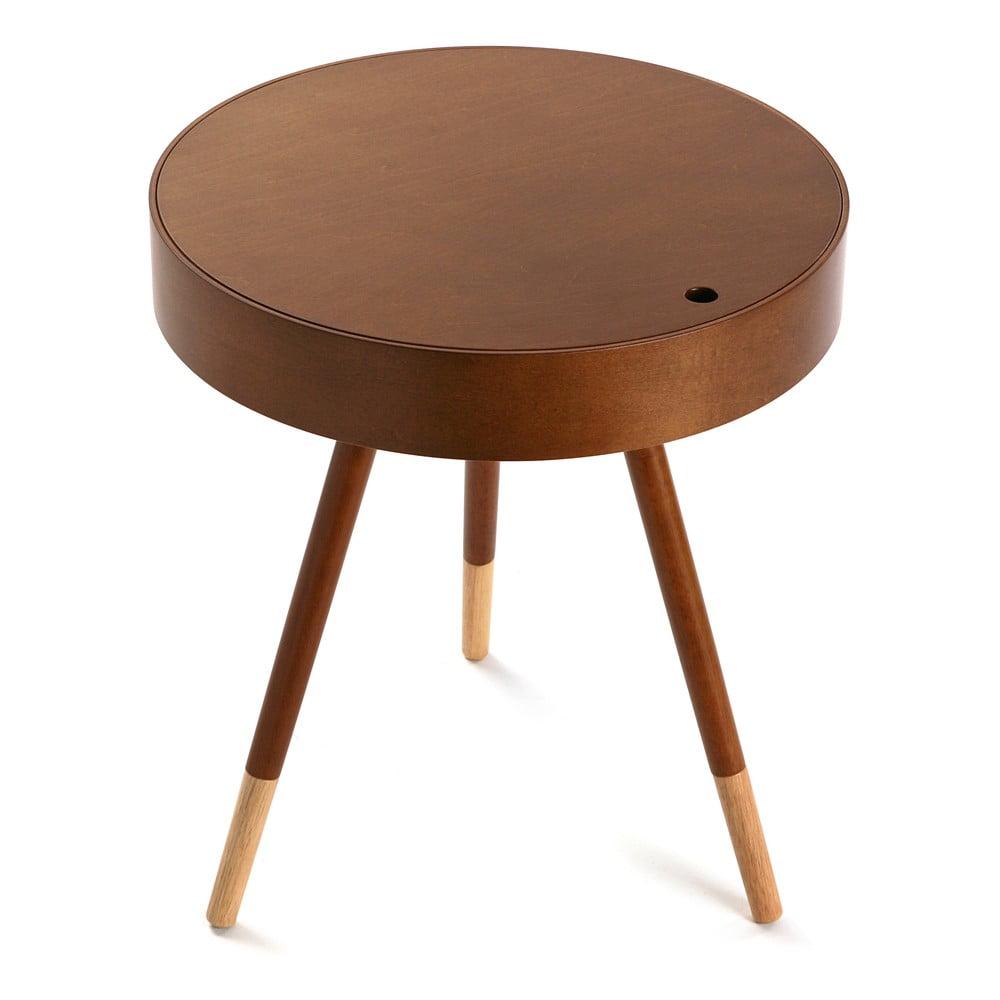 Drewniany stolik ze schowkiem Versa Prato