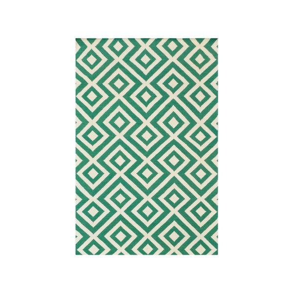 Dywan wełniany Luisa Green, 200x140 cm