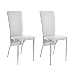 Zestaw 2 białych krzeseł Støraa Nevada