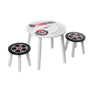 Dziecięcy stół i 2 stołki Racer