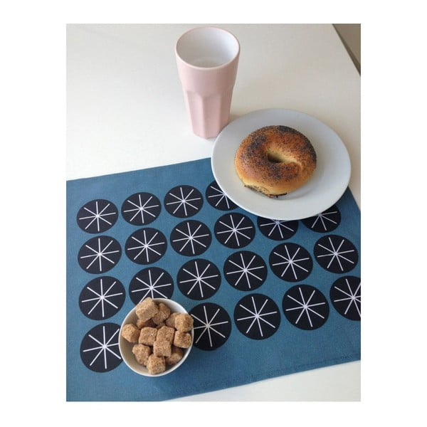 Komplet 2 mat stołowych Stars Blue, 45x35 cm