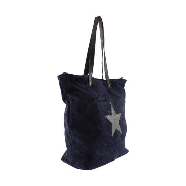 Skórzana torebka Frenze, niebieska