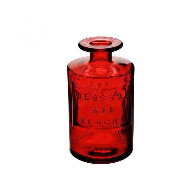 Czerwona butelka ze szkła