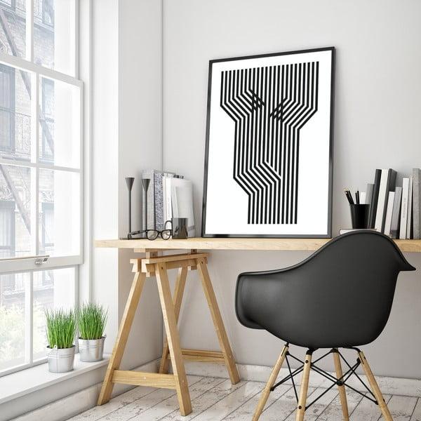 Plakat w drewnianej ramie Foen, 38x28 cm