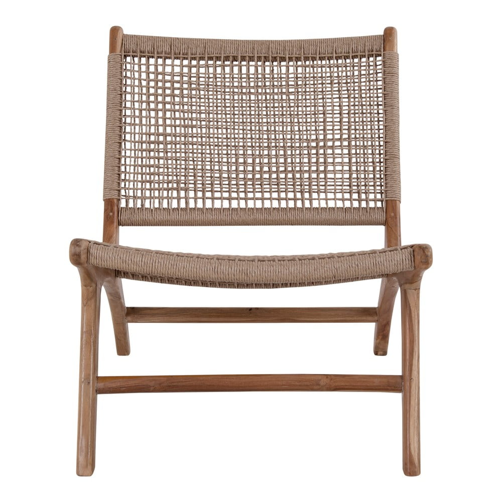 Krzesło ze sztucznego rattanu i drewna tekowego House Nordic Derby