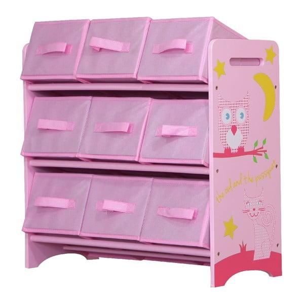 Dziecięca półka z koszykami Owl
