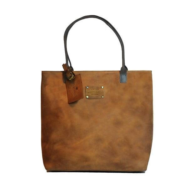 Skórzana torba vintage Posh Stacey, brązowa