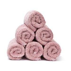 Komplet 6 różowych ręczników Casa Di Bassi Guest, 30x50 cm