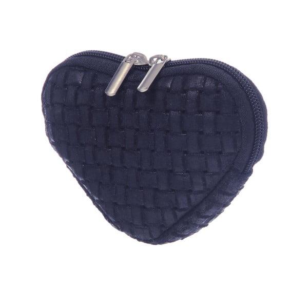 Zamszowa portmonetka Heart Blue
