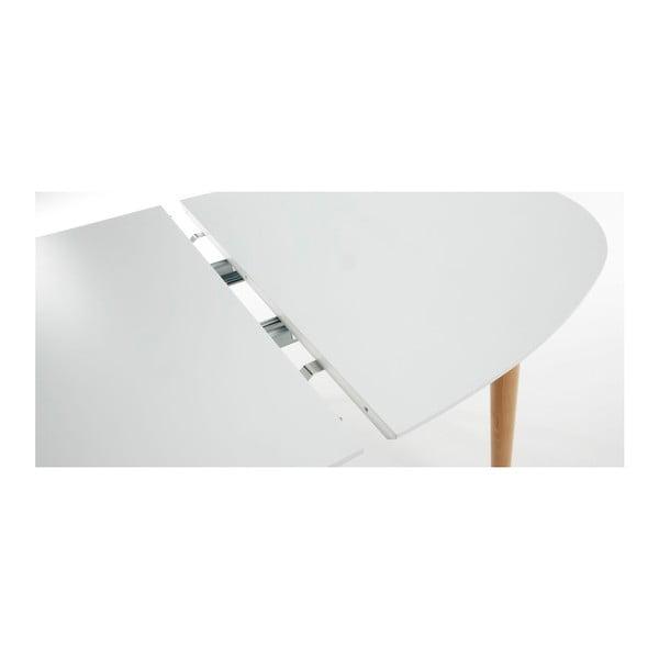 Biały stół rozkładany La Forma Oakland, 140-220 cm