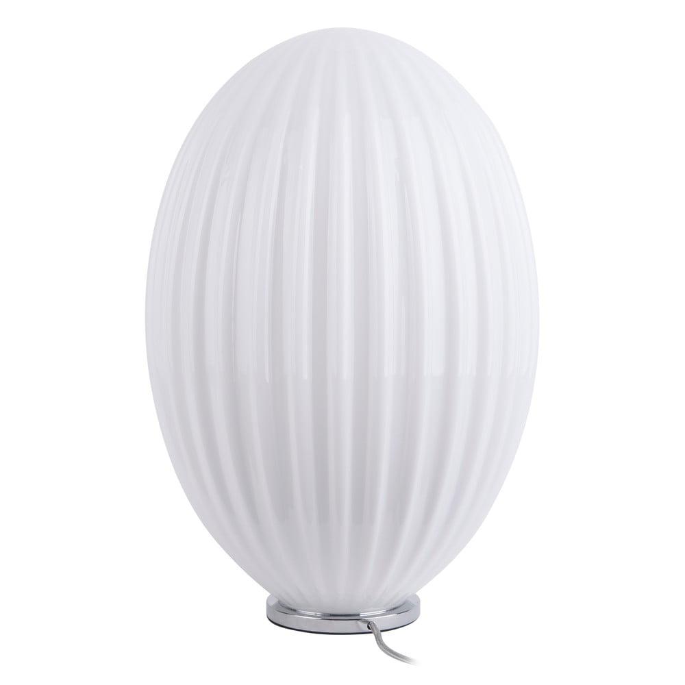 Biała szklana lampa stołowa Leitmotiv Smart,ø30cm