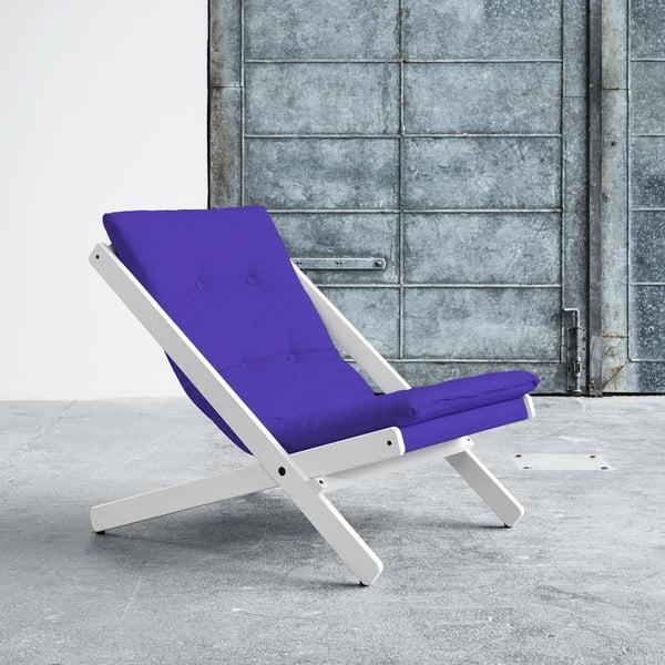 Fotel składany Karup Boogie White/Violet