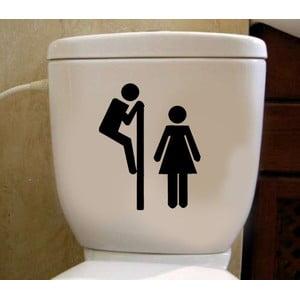 Naklejka winylowa do toalety Przez Ścianę