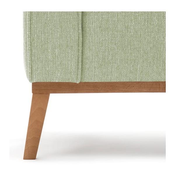 Miętowa sofa trzyosobowa Vivonita Milton