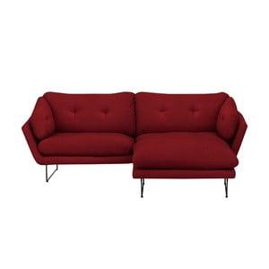 Zestaw czerwonej 3-osobowej sofy i pufu Windsor & Co Sofas Comet