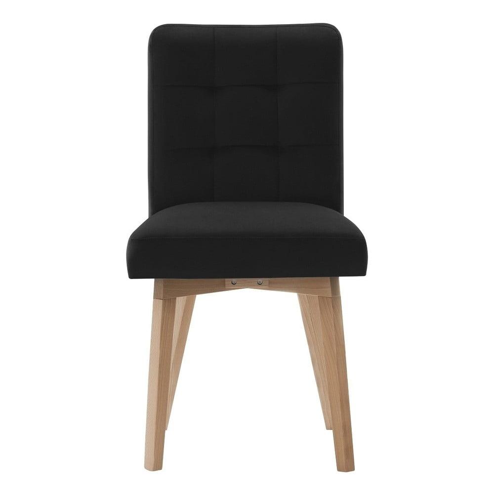 Czarne krzesło Rodier Haring